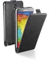 Cellularline Flap Essential - Galaxy Note 3 Custodia con apertura flap e finitura effetto pelle Nero