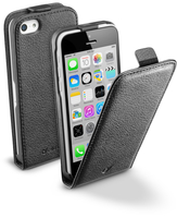 Cellularline Flap Essential - iPhone 5C Custodia con apertura flap e finitura effetto pelle Nero