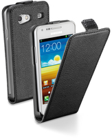 Cellularline Flap Essential - Galaxy S Advance Custodia con apertura flap e finitura effetto pelle Nero