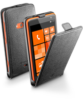 Cellularline Flap Essential - Lumia 625 Custodia con apertura flap e finitura effetto pelle Nero