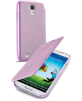 Cellularline Book - Galaxy S4 Value/ S4 Custodia a libro con un tocco di stile Rosa