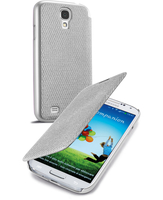 Cellularline Book - Galaxy S4 Value/ S4 Custodia a libro con un tocco di stile Argento