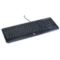 HP 588473-031 USB QWERTY Inglese UK Nero tastiera