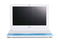 "Acer Aspire One Happy LU.SEF0D.134 1.66GHz N570 10.1"" 1024 x 600Pixel Blu, Bianco Netbook netbook"