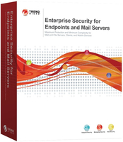 Trend Micro Enterprise Security f/Endpoints & Mail Servers, RNW, GOV, 19m, 26-50u, ML