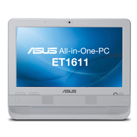 "ASUS ET ET1611PUT-W005F 1.8GHz D425 15.6"" 1366 x 768Pixel Touch screen Bianco PC All-in-one"