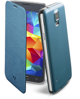 Cellularline Flip-Book - Galaxy S5/S5 Neo Custodia a libro ultra-slim che esalta il design Blu