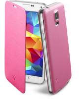 Cellularline Flip-Book - Galaxy S5/S5 Neo Custodia a libro ultra-slim che esalta il design Rosa