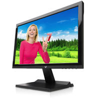 "V7 L18500WS-9N 18.5"" Nero monitor piatto per PC LED display"
