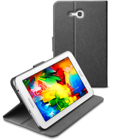 Cellularline Folio - Galaxy Tab 3 Lite 7.0 Custodia per tablet con innovativo stand multiangolo Nero