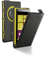 Cellularline Flap Essential - Lumia 1020 Custodia con apertura flap e finitura effetto pelle Nero