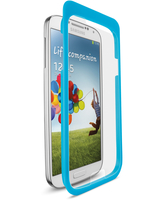 Cellularline Ok Display Invisible Easy Fix - Galaxy S4 I9500 Pellicola protettiva con applicatore di precisione Trasparente