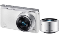 Samsung NX F1 Mini + 9-27mm + 9mm MILC 20.5MP CMOS 5472 x 3648Pixel Argento, Bianco