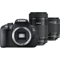 Canon EOS 700D + 18-55mm IS STM + 55-250mm IS STM Kit fotocamere SLR 18MP CMOS 5184 x 3456Pixel Nero