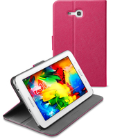 Cellularline Folio - Galaxy Tab 3 Lite 7.0 Custodia per tablet con innovativo stand multiangolo Rosa