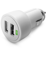Cellularline Dual USB Micro Car Charger - Fast Charge iPad And iPhone Caricabatterie veloce auto 15W per due dispositivi Bianco