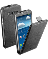 Cellularline Flap Essential - Galaxy Core Advance Custodia con apertura flap e finitura effetto pelle Nero