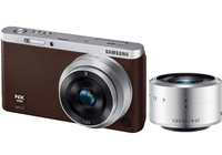 Samsung NX F1 Mini + 9-27mm + 9mm MILC 20.5MP CMOS 5472 x 3648Pixel Marrone, Argento