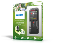 Philips Voice Tracer 2700 Flash card Antracite, Cromo dittafono