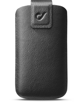 "Cellularline First Class - Per Smartphone fino a 4.8"" Custodia sleeve in vera pelle con finiture eleganti Nero"