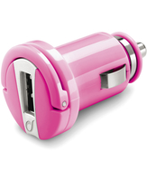 Cellularline USB Car Charger Micro - Universale Caricabatterie 5W compatto Rosa