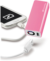 Cellularline USB Pocket Charger 3000 - Universale Design moderno e dimensioni ridotte Rosa