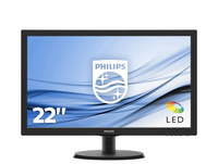MONITOR LED 21,5'' PHILIPS 223V5LHSB2 CON SMART CONTROL LITE