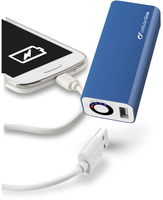 Cellularline USB POCKET CHARGER Caricabatterie USB portatile Blu