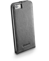 Cellularline Flap Essential - iPhone 6S/6 Custodia con apertura flap e finitura effetto pelle Nero