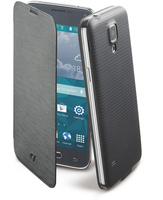 Cellularline Flip-Book - Galaxy S5 Mini Custodia a libro ultra-slim che esalta il design Nero
