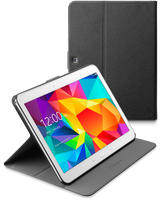 Cellularline Folio - Galaxy Tab 4 10.1 Custodia per tablet con innovativo stand multiangolo Nero
