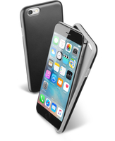 Cellularline Double Strong - iPhone 6S/6 Cover con doppio strato di materiale anti-shock Nero