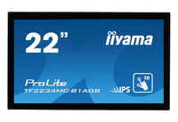 "iiyama ProLite TF2234MC-B1AGB 21.5"" 1920 x 1080Pixel Multi-touch Multi utente Nero monitor touch screen"