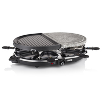 PIASTRA RACLETTE + PIETRA OLLARE PRINCESS GRILL 1200W 162710