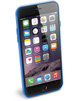 Cellularline Color Slim - iPhone 6S/6 Plus Cover morbida e super colorata Blu