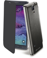 Cellularline Flip-Book - Galaxy Note 4 Custodia a libro ultra-slim che esalta il design Nero