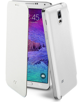 Cellularline Flip-Book - Galaxy Note 4 Custodia a libro ultra-slim che esalta il design Bianco