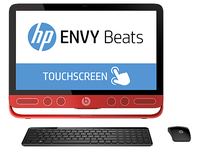 "HP ENVY 23-n250na Beats 1.9GHz i5-4460T 23"" 1920 x 1080Pixel Touch screen Nero, Rosso PC All-in-one"