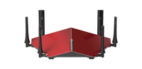 D-Link DIR-890L/R Dual-band (2.4 GHz/5 GHz) Gigabit Ethernet Nero, Rosso router wireless
