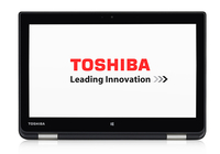 "Toshiba Satellite Radius 11 L10W-B-101 2.16GHz N2840 11.6"" Touch screen Nero, Argento Ibrido (2 in 1)"