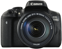 Canon EOS 750D + 18-135mm IS STM Kit fotocamere SLR 24.2MP CMOS 6000 x 4000Pixel Nero