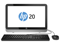 "HP 20-2300nf 1.35GHz E1-6010 19.45"" 1600 x 900Pixel Nero, Argento PC All-in-one"