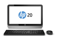"HP 20-2326nf 1.35GHz E1-6010 19.45"" 1600 x 900Pixel Nero, Argento PC All-in-one"