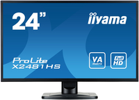 "iiyama ProLite X2481HS-B1 23.6"" Full HD VA Opaco Nero monitor piatto per PC LED display"