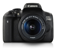 Canon EOS 750D + EF-S18-55mm IS STM Kit fotocamere SLR 24.2MP CMOS 6000 x 4000Pixel Nero
