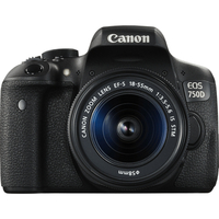 Canon EOS 750D + EF-S 18-55 Kit fotocamere SLR 24.2MP CMOS 6000 x 4000Pixel Nero