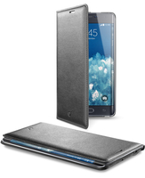 Cellularline Flip-Book - Galaxy Note Edge Custodia a libro ultra-slim che esalta il design Nero