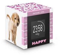 Bigben Interactive RR70PDOGS2 Orologio Digitale Rosa, Bianco radio