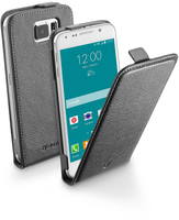 Cellularline Flap Essential - Galaxy S6 Custodia con apertura flap e finitura effetto pelle Nero