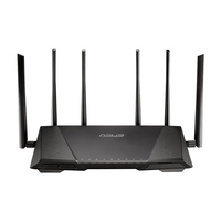 ASUS RT-AC3200 Dual-band (2.4 GHz/5 GHz) Gigabit Ethernet 3G 4G Nero router wireless